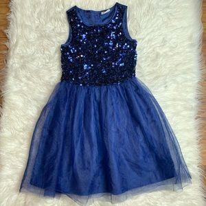 CRAZY 8 blue navy dress size 8